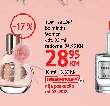 cute cheap wholesale online new lifestyle Akcija DM - Tom Tailor, Toaletna voda Be Mindful 250166
